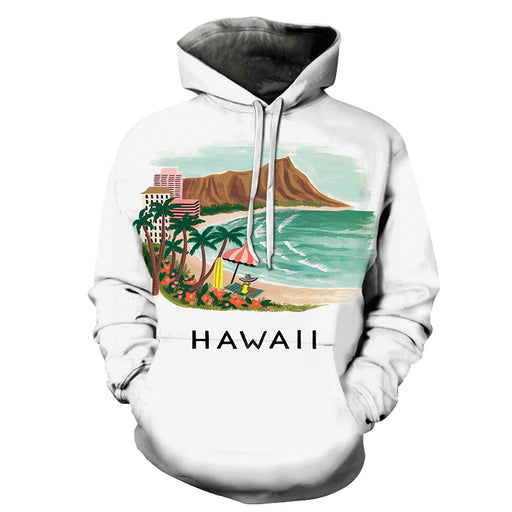Holiday At Hawaii Beach 3D - Sweatshirt, Hoodie, Pullover