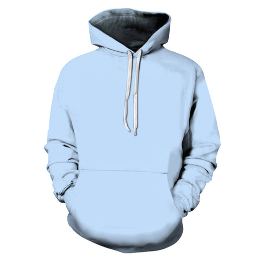 Powder Blue Color 3D - Sweatshirt, Hoodie, Pullover