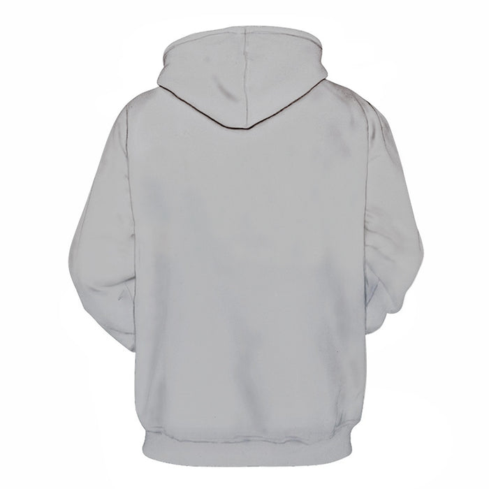 Grey Color 3D - Sweatshirt, Hoodie, Pullover