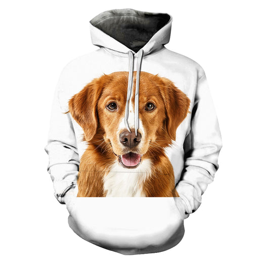 Cute Dog Face 3D - Sweatshirt, Hoodie, Pullover