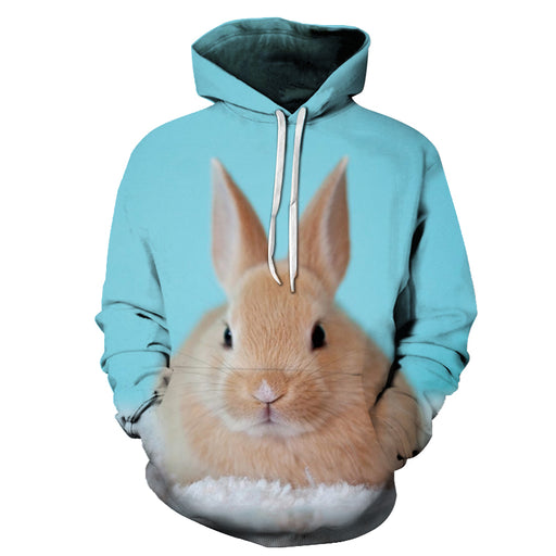 Cute Rabbit Face 3D - Sweatshirt, Hoodie, Pullover