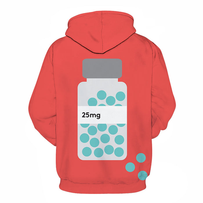 Red Mental Health Awareness - 3D - Sweatshirt, Hoodie, Pullover