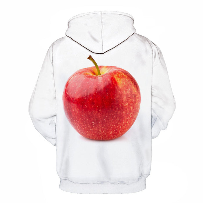 Red Apple White 3D - Sweatshirt, Hoodie, Pullover