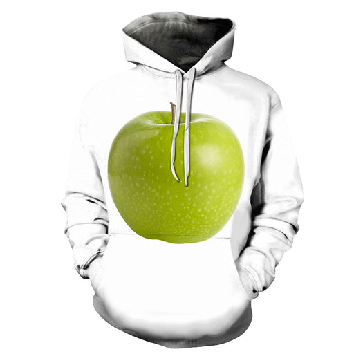 Green Apple White 3D - Sweatshirt, Hoodie, Pullover