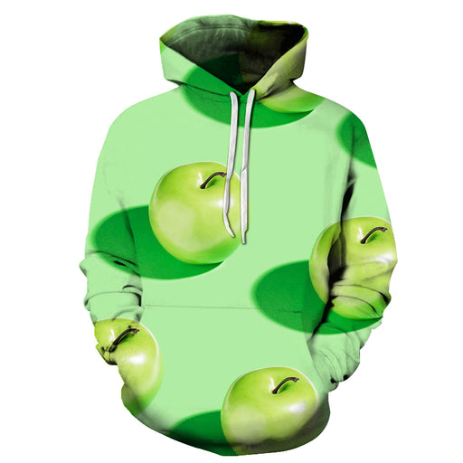 Green Apple 3D - Sweatshirt, Hoodie, Pullover