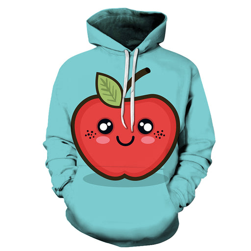 Cartoon Apple 3D - Sweatshirt, Hoodie, Pullover