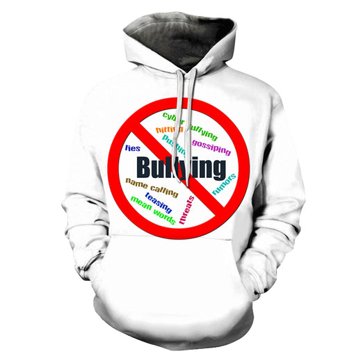 White Bullying Awareness 3D - Sweatshirt, Hoodie, Pullover