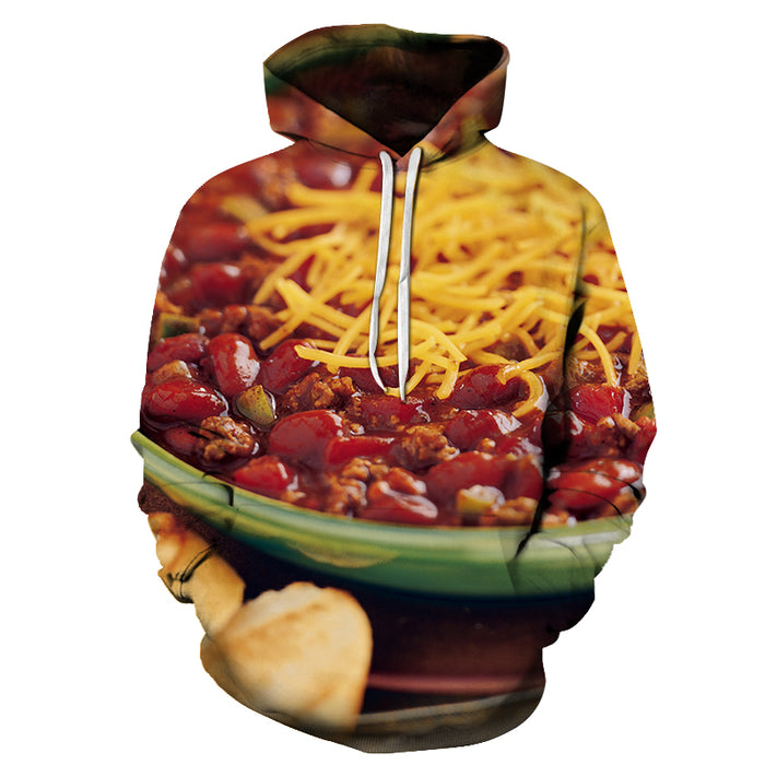 Freshly Made Chillis 3D Hoodie Sweatshirt Pullover