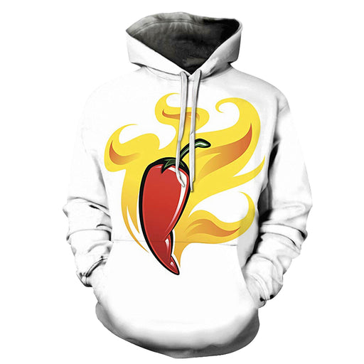 Chillis On Fire 3D Hoodie Sweatshirt Pullover