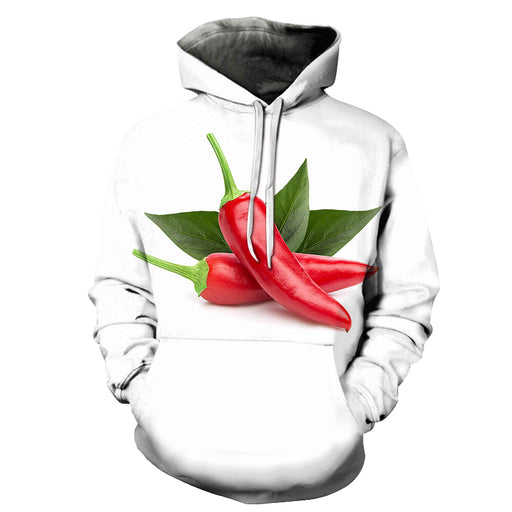 Red Pepper Chilli 3D Hoodie Sweatshirt Pullover