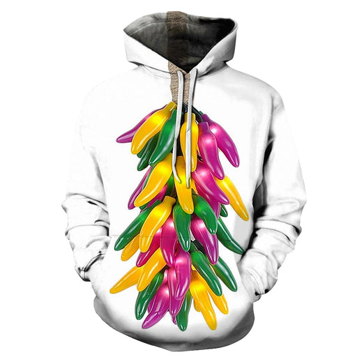 Colorful Chilli 3D Hoodie Sweatshirt Pullover