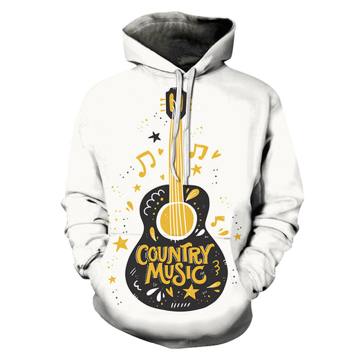 Country Music White 3D - Sweatshirt, Hoodie, Pullover