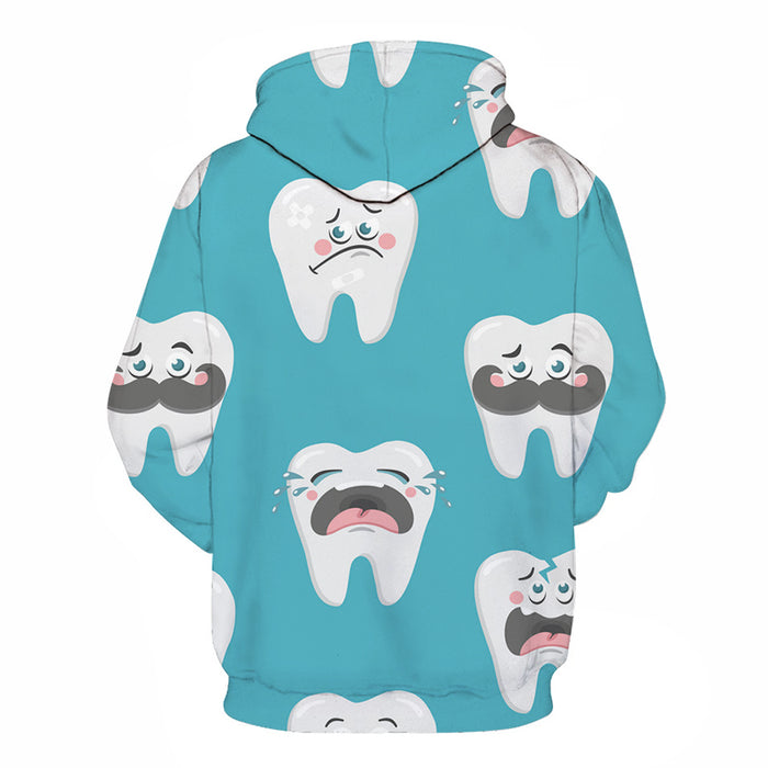 Crying Tooth Dentist 3D Hoodie Sweatshirt Pullover