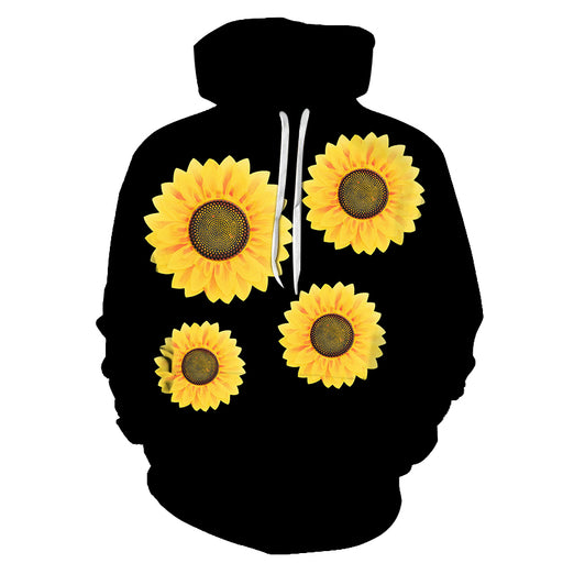 Sunflower Black 3D Sweatshirt Hoodie Pullover