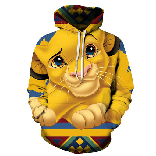Cute Simba Cartoon 3D - Sweatshirt, Hoodie, Pullover
