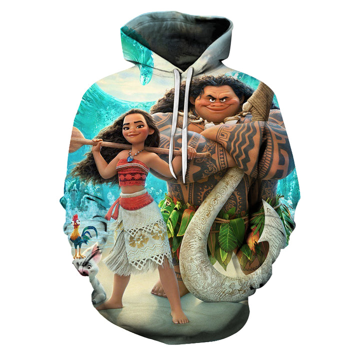 Moana Cartoon 3D - Sweatshirt, Hoodie, Pullover