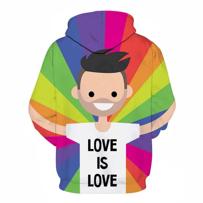 Love Is Love 3D - Sweatshirt, Hoodie, Pullover