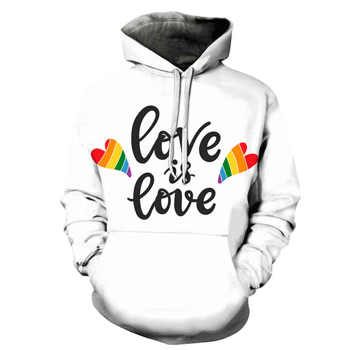 Love Is Love Pride White 3D - Sweatshirt, Hoodie, Pullover