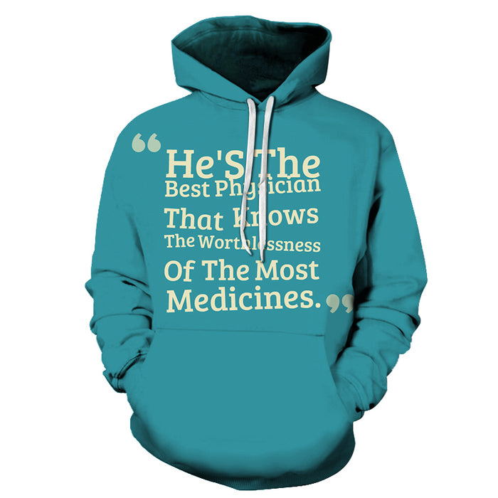 Best Physician Awareness - 3D - Sweatshirt, Hoodie, Pullover