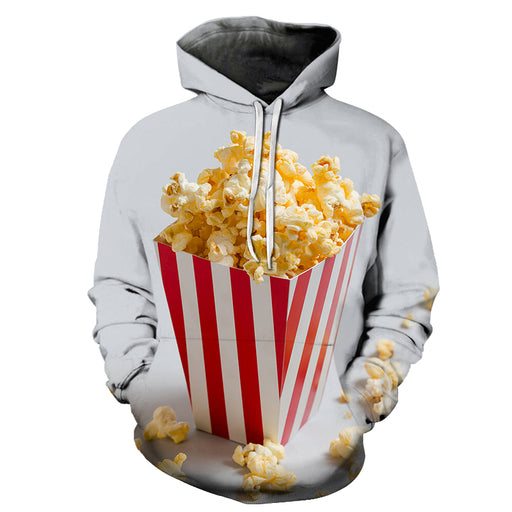 Movie Popcorn 3D Hoodie Sweatshirt Pullover
