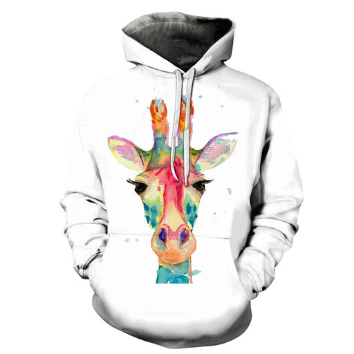 Colorful Giraffe Face 3D - Sweatshirt, Hoodie, Pullover