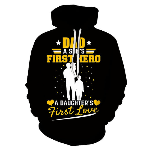 Dad A Son's First Hero 3D - Sweatshirt, Hoodie, Pullover