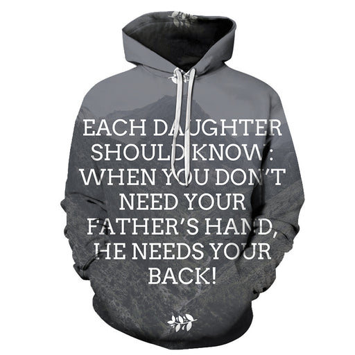 Father Needs Your Back 3D - Sweatshirt, Hoodie, Pullover