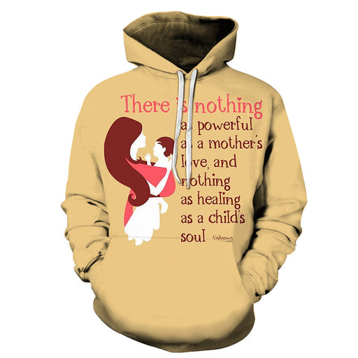 Beige Mother Love 3D - Sweatshirt, Hoodie, Pullover