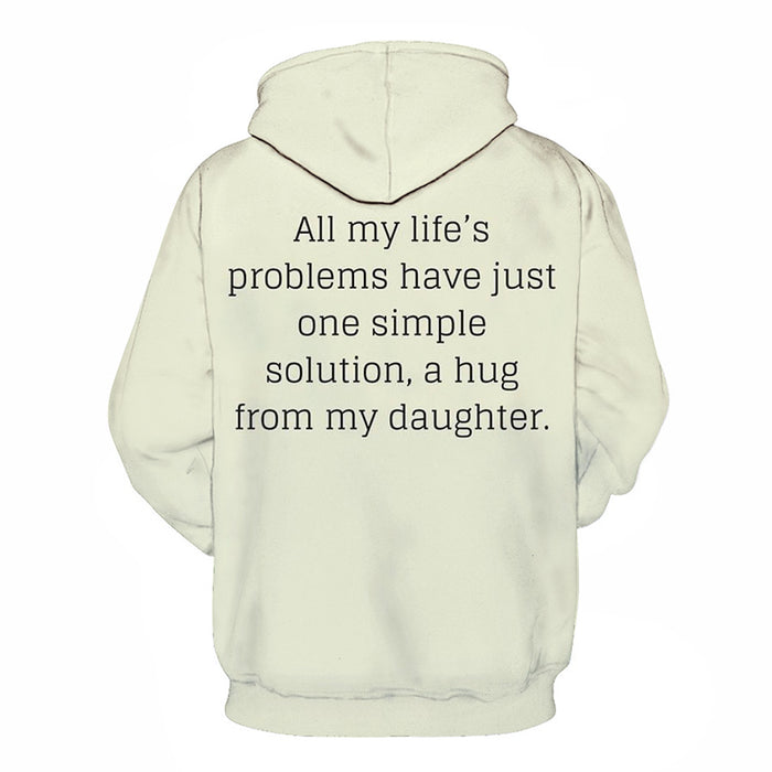 A Hug From My Daughter Mother Love 3D - Sweatshirt, Hoodie, Pullover