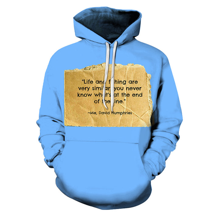 Life is like Fishing 3D - Sweatshirt, Hoodie, Pullover
