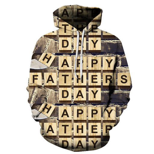 Father's Day scrabble 3D - Sweatshirt, Hoodie, Pullover