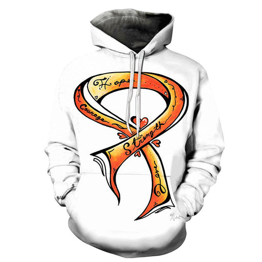 3D Hope, Strength, Love, & Courage - Hoodie, Sweatshirt, Pullover