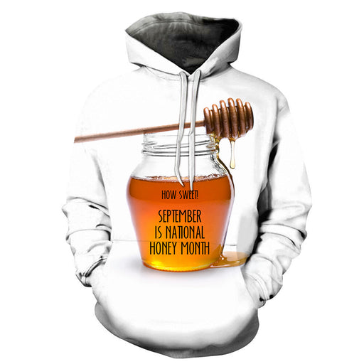 3D ''September'' National Honey Month - Hoodie, Sweatshirt, Pullover