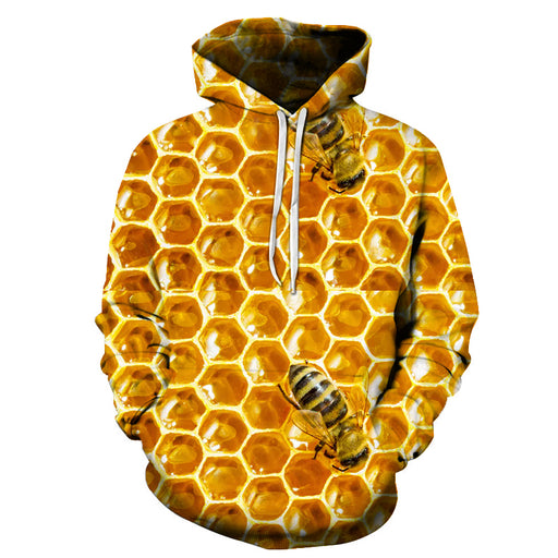 3D Sweet Honey Bees - Hoodie, Sweatshirt, Pullover