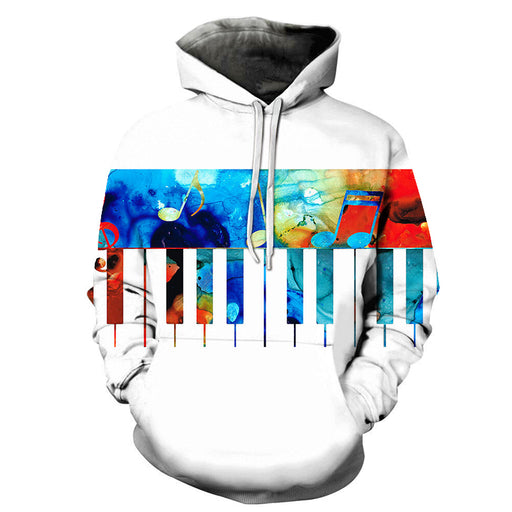3D Colorful Piano Keys - Hoodie, Sweatshirt, Pullover