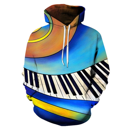 3D Animated Piano Keys - Hoodie, Sweatshirt, Pullover