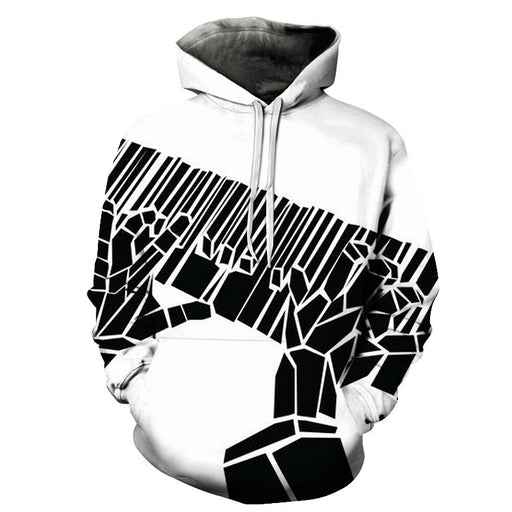 3D Black Piano Keys Playing - Hoodie, Sweatshirt, Pullover