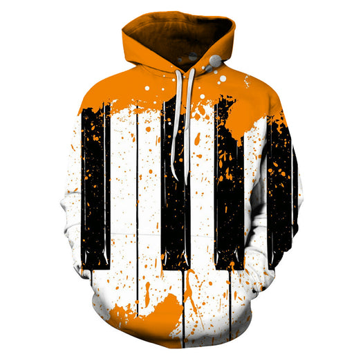 3D Abstract Piano Keys Paint - Hoodie, Sweatshirt, Pullover