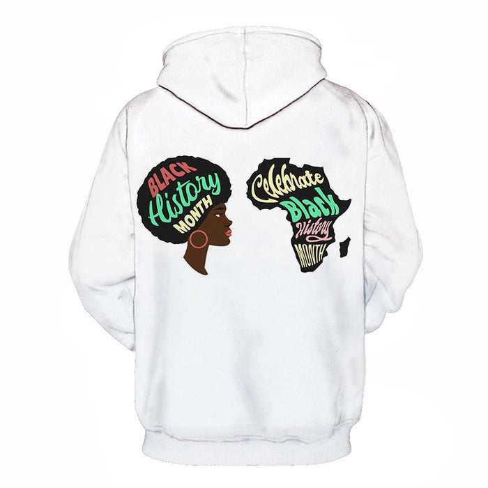 Color White - Black History Month 3D - Sweatshirt, Hoodie, Pullover