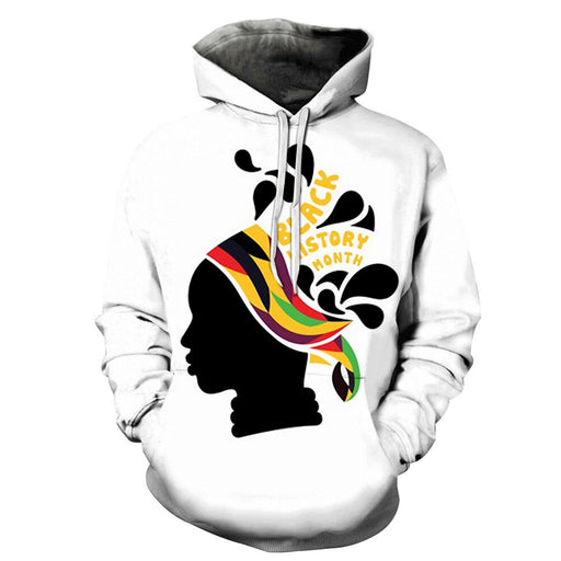 Girl Face Black History Month 3D - Sweatshirt, Hoodie, Pullover