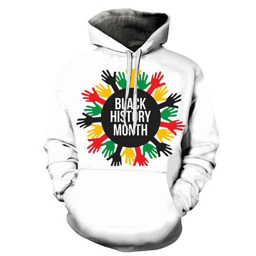 Colorful Hands Black History Month 3D - Sweatshirt, Hoodie, Pullover