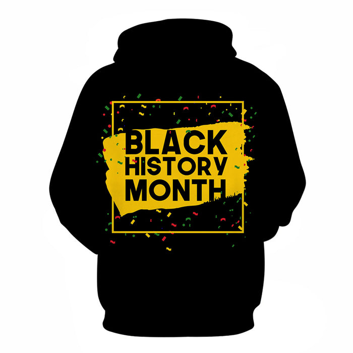 Black-Yellow Black History Month 3D - Sweatshirt, Hoodie, Pullover