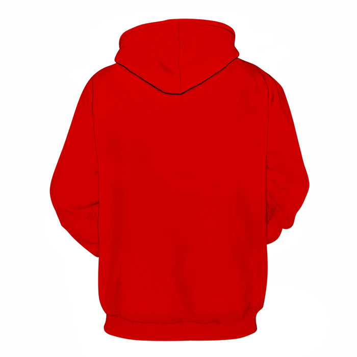 Almost Pure Red Shade Of Red 3D - Sweatshirt, Hoodie, Pullover