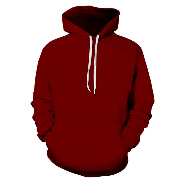 Maroon Shade Of Red 3D - Sweatshirt, Hoodie, Pullover