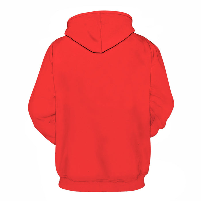 Red Orange Shade Of Red 3D - Sweatshirt, Hoodie, Pullover