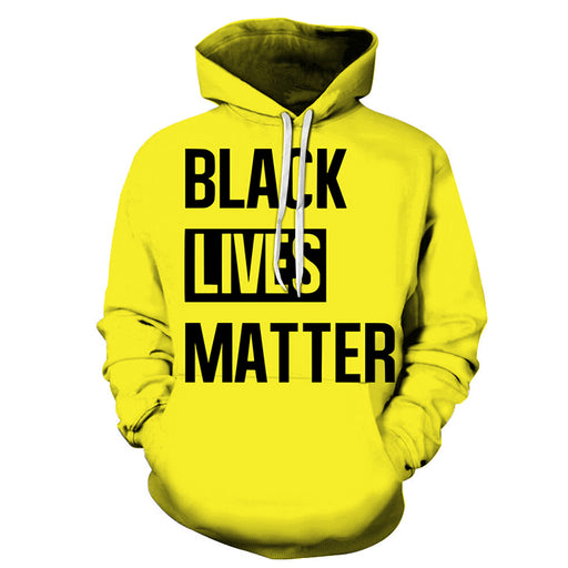 Yellow Black Lives Matter 3D - Sweatshirt, Hoodie, Pullover