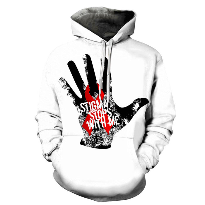 AIDS Stigma Stops With Me 3D - Sweatshirt, Hoodie, Pullover