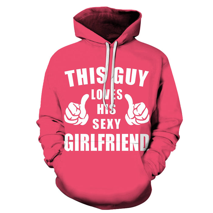 This Guy Loves his Sexy Girlfriend Sweatshirt, Hoodie, Pullover