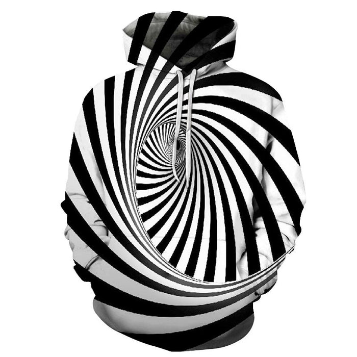 Big Swirl Illusion 3D - Sweatshirt, Hoodie, Pullover