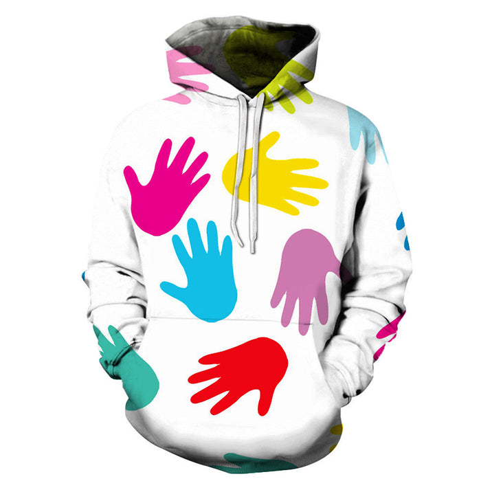 Autism Hands 3D - Sweatshirt, Hoodie, Pullover - Support Autism Awareness Movement